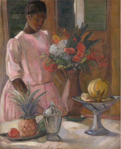 Astrid Holm: <i>Rose dækker bord</i>, 1914. Den Kongelige Malerisamling, SMK.