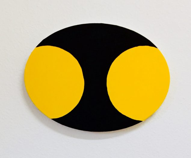Malte Fisker, Yellow & Black Composition, maleri. Pressefoto.
