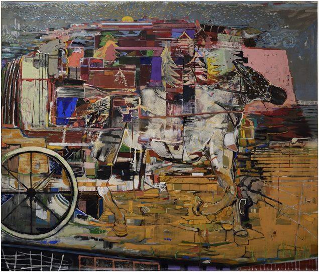 Johnny Schmidt Erbs, <em>Diligence</em>,akryl og olie på lærred, 170x200 cm. Pressefoto.