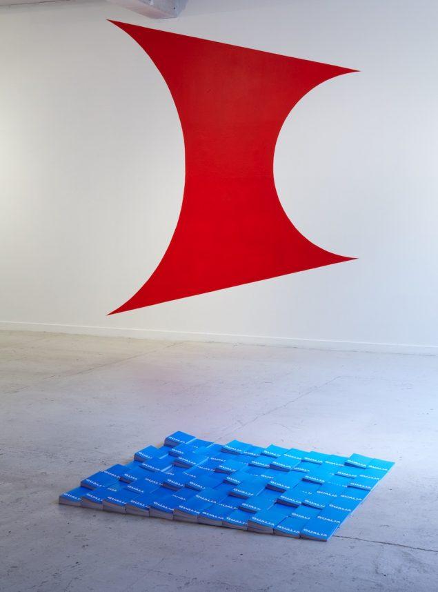 Søren Andreasen, QUALIA/Kampen mellem det konkrete og det abstrakte (rød løsriver sig), 2011. Foto: Anders Sune Berg