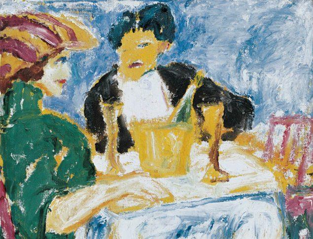 Emil Nolde: Herr und Dame (im grünen Kleid, 1911