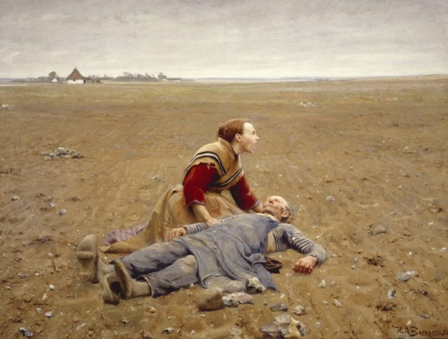 H.A. Brendekilde, Udslidt, 1889. Brandts - Museum for Kunst og Visuel Kultur. Pressefoto