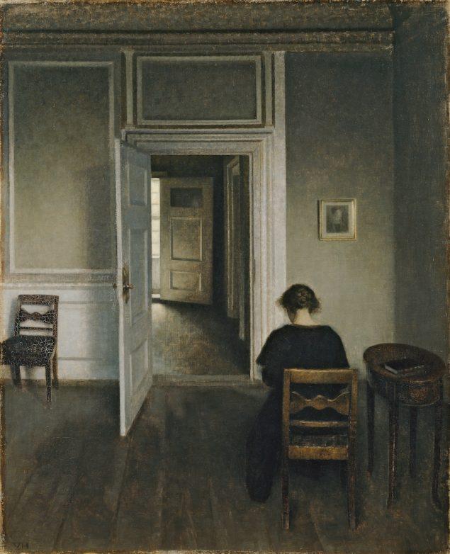 Vilhelm Hammershøi, Interiør, Strandgade 30, (1906-1908). ARoS – Aarhus Kunstmuseum Foto: Ole Hein Pedersen