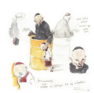 Michael Kvium: Skitsen