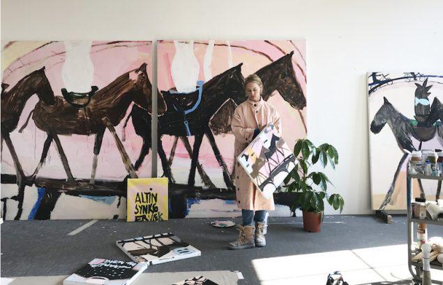 Mie Olise i hendes Atalier. Pressefoto