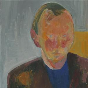 Agnete Bjerre. Portræt af min mand F.C., 1961.