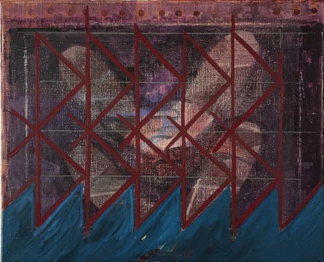 Rasmus Nilausen: Historie, 2019, Olie på hørlærred, 40 x 50 cm. (courtesy kunstneren & garcía | galería, Madrid)