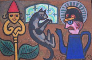 Henry Heerup: <i>Katteangst</i>, 1972. Uffe og Lene Jensen, Galleri Nakkehage.