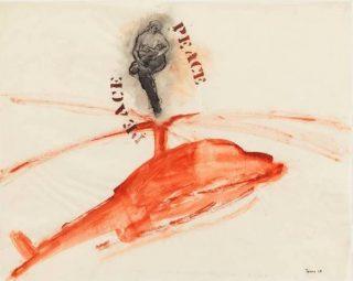 Nancy Spero, P.E.A.C.E., Helicopter, Mother + Children, 1968. © The Nancy Spero and Leon Golub Foundation of the Arts / VISDA