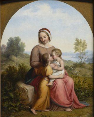 """Lund. """"Jomfru Maria med Jesusbarnet og den lille Johannes"""", 1832. Den Hirschsprungske Samling"""