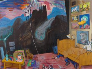 Kunst fra museets samling: Malerier, modeller og madrasser