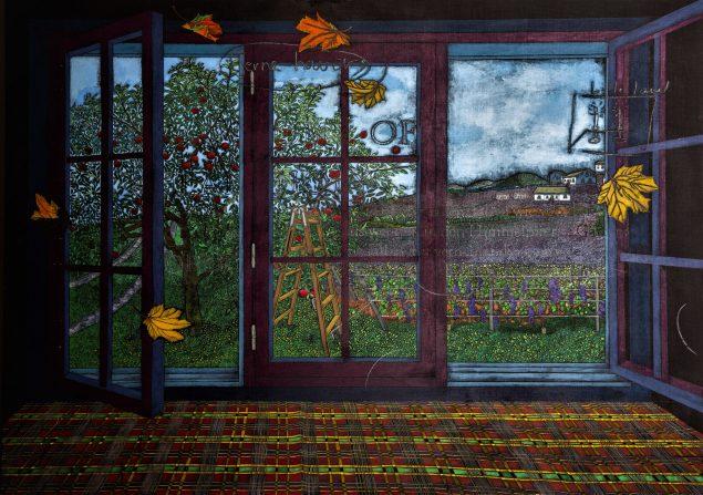Jesper Christiansen. Efterår (ufærdigt maleri), 2019.