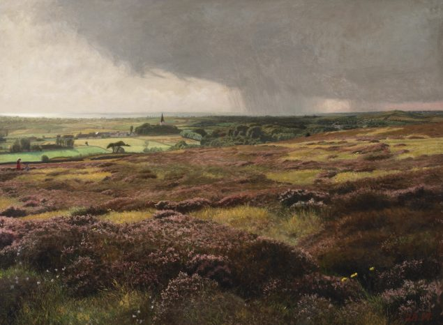 Jens Birkholm: Når lyngen blomstrer, 1907. Foto: Faaborg Museum.