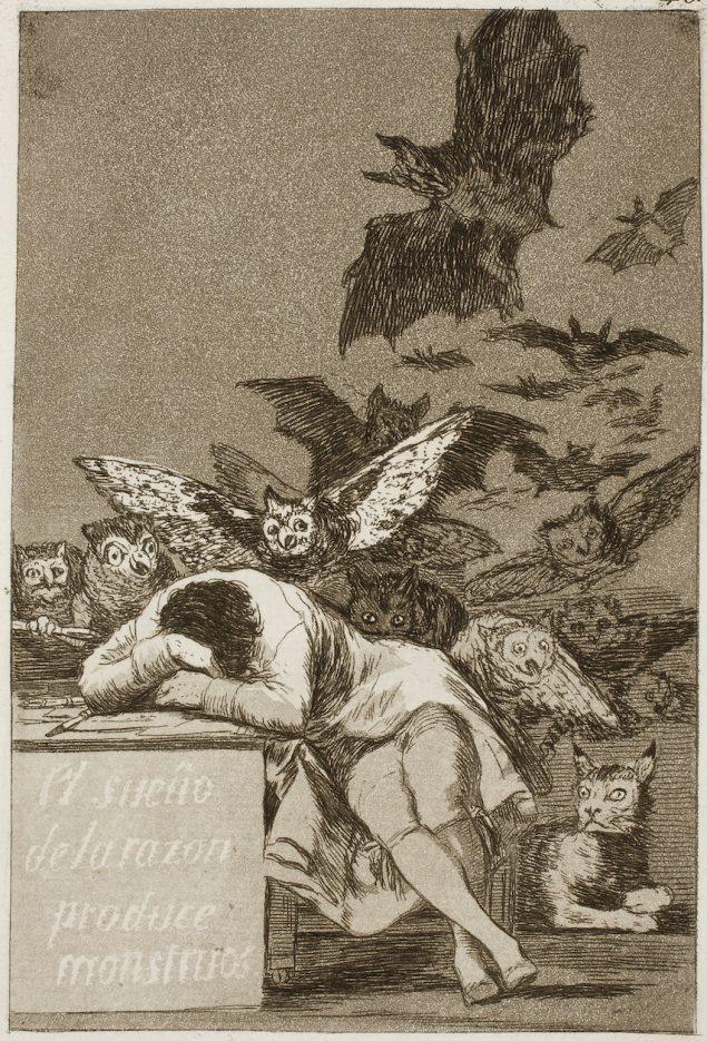 Francisco Goya: Fornuftens søvn avler uhyrer, 1799. Pressefoto.