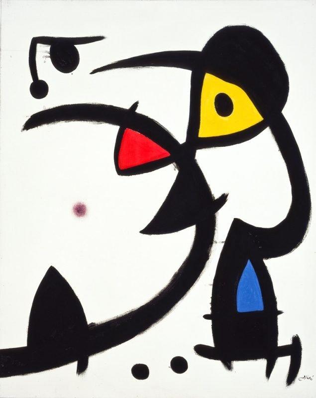 Joan Miro: Deux personnages hantés par un oiseau, 1976. Foto: Joan Ramon Bonet.