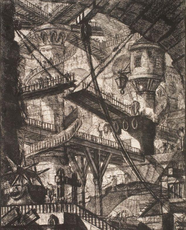 Giovanni Battista Piranesi: Det runde tårn, ca. 1750, Den Kongelige Kobberstiksamling. Pressefoto.