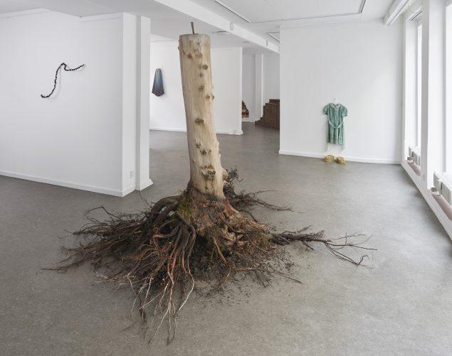 Man-Maid Nature. Installationsvue. Her ses værker af Sari Koski-Vähälä, Charlotte Walentin, Pernille Egeskov, Minna Kangasmaa og Pernille Egeskov. Foto: Anders Sune Berg.