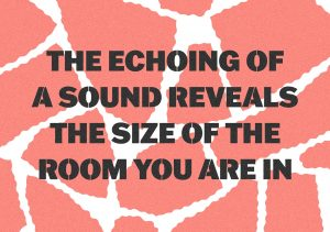 Lise Harlev og Tilman Wendland: The echoing of a sound reveals the size of the room you are in